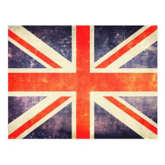 Bandera de Union Jack del vintage Tarjetas Postales