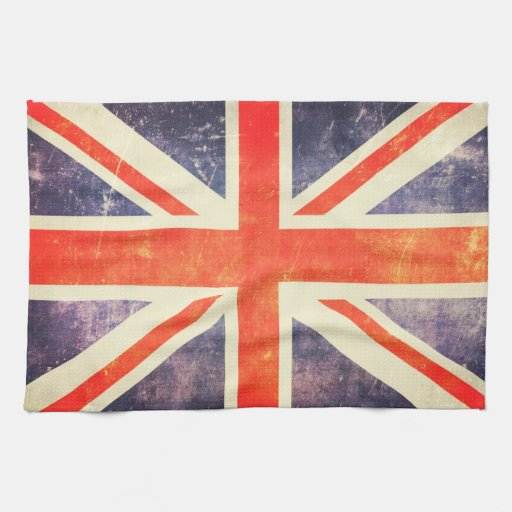 Bandera de Union Jack del vintage Toalla De Mano