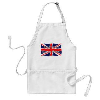 Bandera de Union Jack - dogo británico Delantales