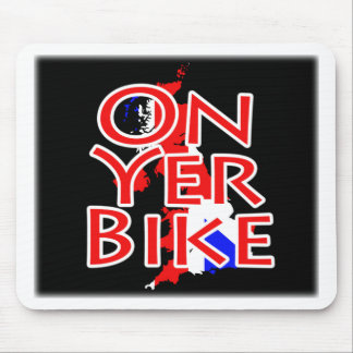 Bandera de Union Jack en el mapa de Gran Bretaña - Alfombrillas De Ratones