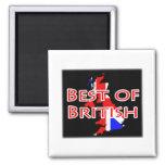Bandera de Union Jack en el mapa - mejor de Britán Imán De Nevera
