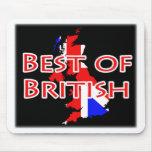 Bandera de Union Jack en el mapa - mejor de Britán Tapetes De Ratón