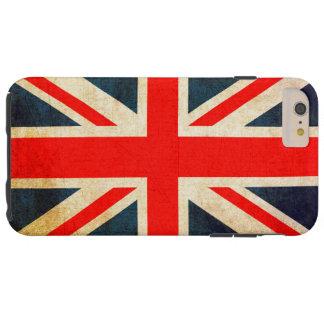 Bandera de Union Jack en Grunge Funda De iPhone 6 Plus Tough