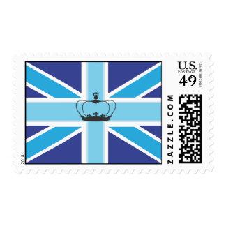Bandera de Union Jack en sombras del franqueo/del  Timbres Postales