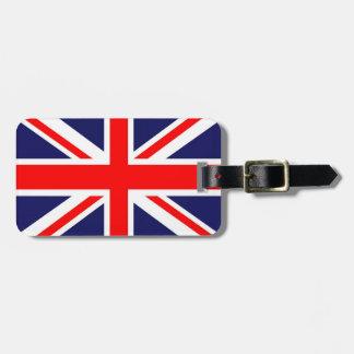 Bandera de Union Jack Etiqueta De Maleta