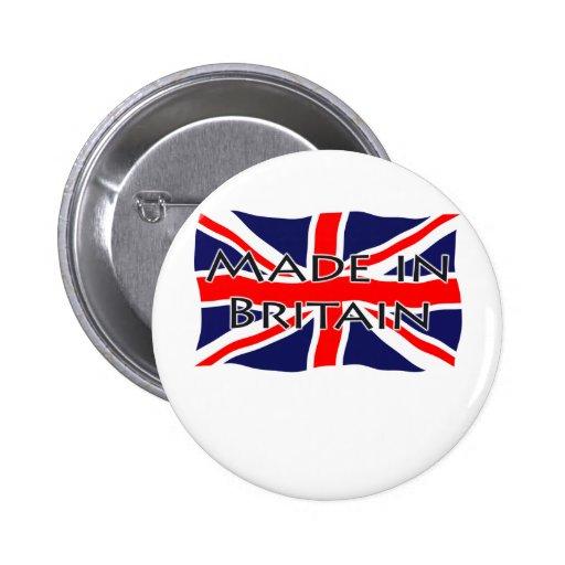 Bandera de Union Jack - hecha en Gran Bretaña Pins