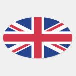 Bandera de Union Jack Pegatinas Ovaladas