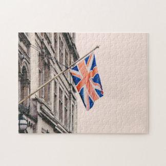 Bandera de Union Jack Puzzle Con Fotos