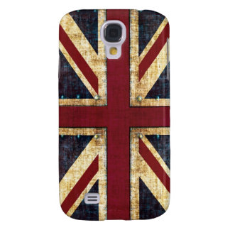 bandera de Union Jack Reino Unido del grunge Funda Para Galaxy S4