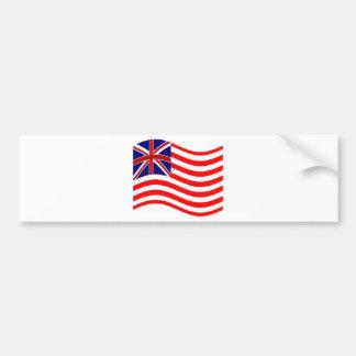 Bandera de Union Jack Stripies Pegatina De Parachoque