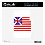 Bandera de unión magnífica iPod touch 4G skin