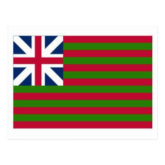 Bandera de unión magnífica naval tarjetas postales