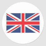 Bandera de unión pegatina redonda