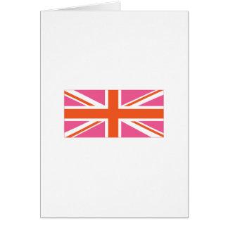 Bandera de unión rosada y anaranjada tarjetón