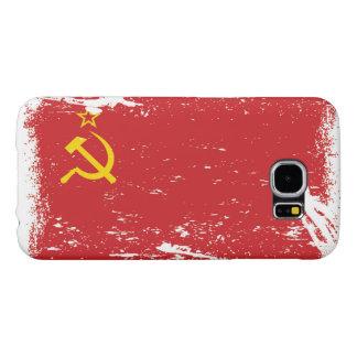 Bandera de Unión Soviética del Grunge - URSS Funda Samsung Galaxy S6