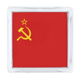 Bandera de Unión Soviética Insignia Plateada