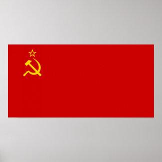 Bandera de Unión Soviética Póster