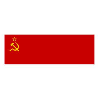 Bandera de Unión Soviética Tarjeta De Visita