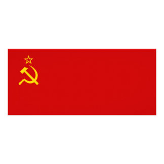 Bandera de Unión Soviética Tarjetas Publicitarias A Todo Color