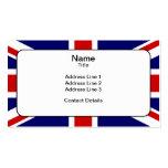 Bandera de unión tarjetas de visita