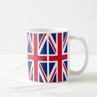 Bandera de unión tazas de café