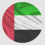 Bandera de United Arab Emirates Etiquetas Redondas