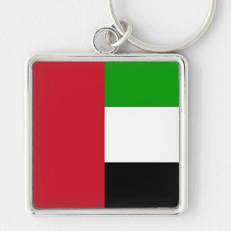 bandera de United Arab Emirates Llavero Cuadrado Plateado