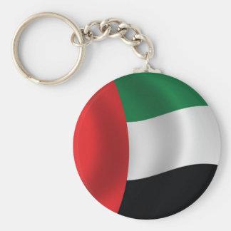 Bandera de United Arab Emirates Llavero Redondo Tipo Pin