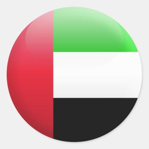 Bandera de United Arab Emirates Pegatina Redonda