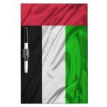 Bandera de United Arab Emirates Pizarras Blancas