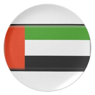 Bandera de United Arab Emirates Platos Para Fiestas