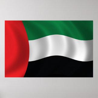 Bandera de United Arab Emirates Póster