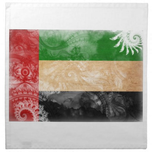 Bandera de United Arab Emirates Servilleta Imprimida