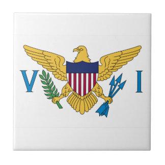 Bandera de United States Virgin Islands Azulejo Cuadrado Pequeño