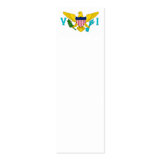 Bandera de United States Virgin Islands Plantilla De Tarjeta De Visita