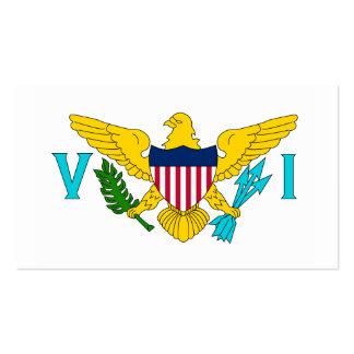 Bandera de United States Virgin Islands Tarjeta De Negocio