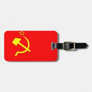 Bandera de URSS Etiquetas Para Maletas