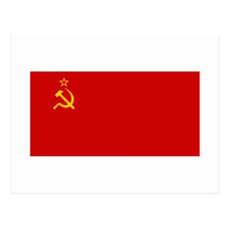 Bandera de URSS Tarjetas Postales