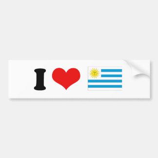 Bandera de Uruguay Etiqueta De Parachoque