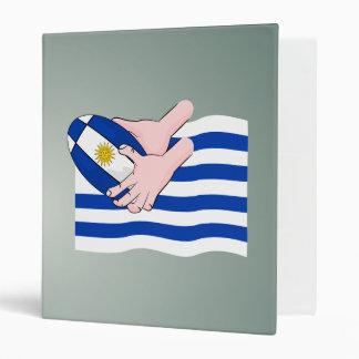 """Bandera de Uruguay con la bola de rugbi del dibujo Carpeta 1"""""""