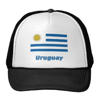 Bandera de Uruguay con nombre Gorro