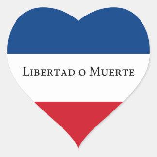 Bandera de Uruguay/del Uruguayan 33. Libertad Pegatina En Forma De Corazón