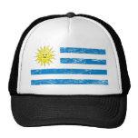 Bandera de Uruguay del vintage Gorra