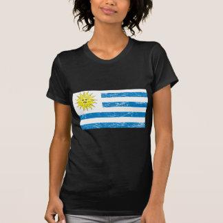 Bandera de Uruguay del vintage Camisetas