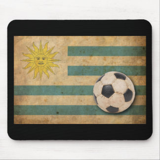 Bandera de Uruguay del vintage Alfombrilla De Raton