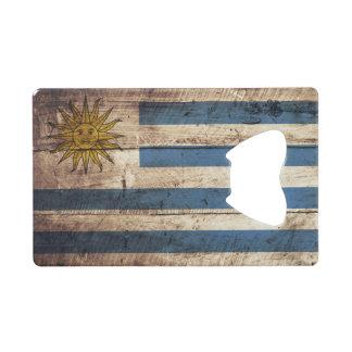 Bandera de Uruguay en grano de madera viejo