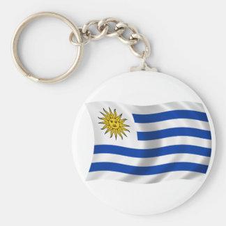 Bandera de Uruguay Llavero Redondo Tipo Pin