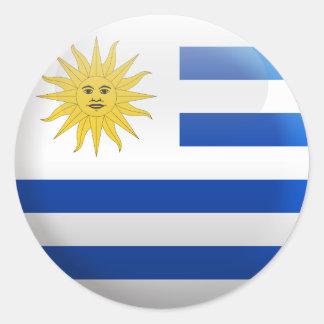 Bandera de Uruguay Pegatina Redonda