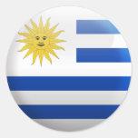 Bandera de Uruguay Pegatinas Redondas