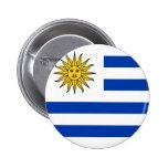 Bandera de Uruguay Pin Redondo 5 Cm
